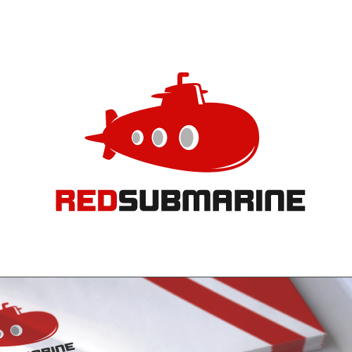 Give the red submarine a new logo