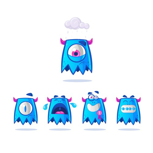 Monsters Emoji Set
