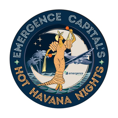Logo for retro/vintage Cuban Havana Nights party invitation!