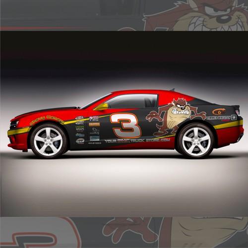 Bold Nascar Race Car Design for CHEVY CAMARO