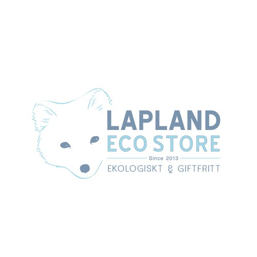 A polar fox in a logotype for the Lapland Eco Store