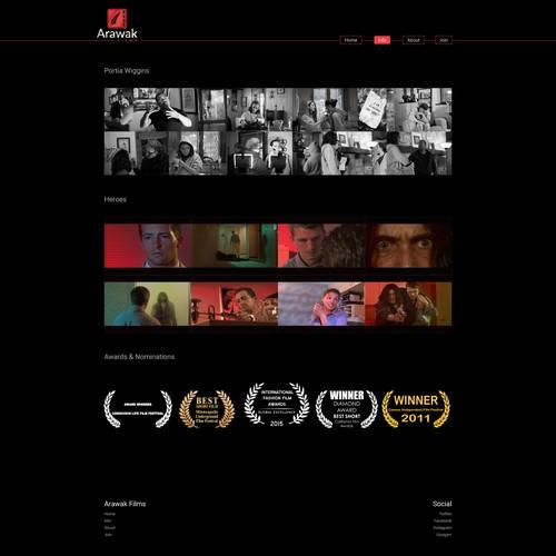 film portfolio web design
