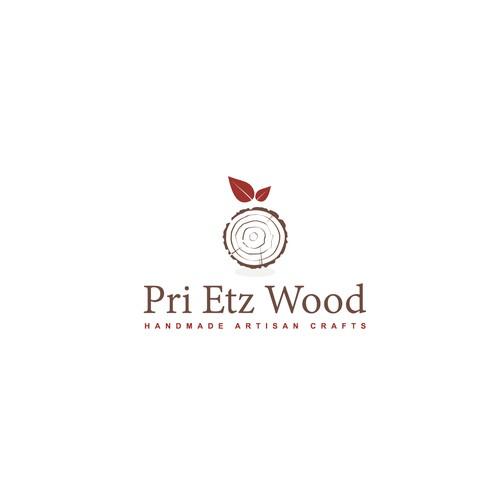 Concept logo for handmade artisan wood crafts