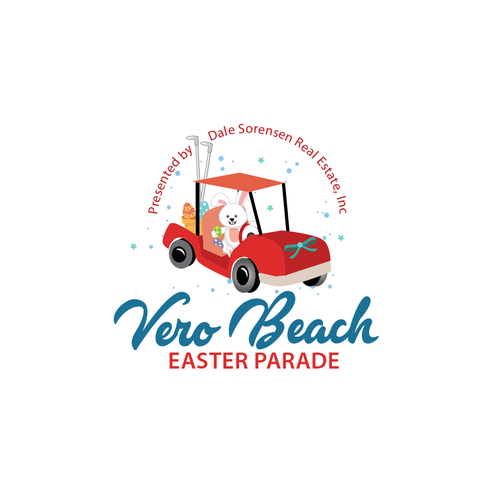 Logo for first annual golf cart Easter Parade