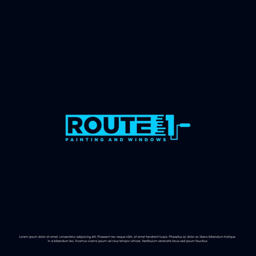 Logo for Route 1 Painting