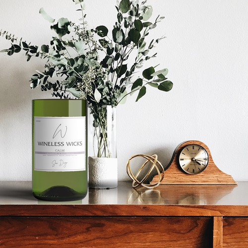 Luxury Candle Label - Wineless Wicks