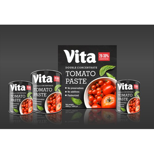 product packaging for Tomato Paste Design