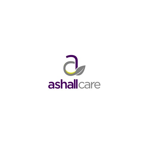 Clean and modern logo for Ashall Care