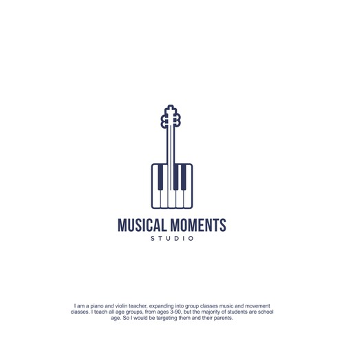 Create a musical masterpiece logo and website for Musical Moments Studio