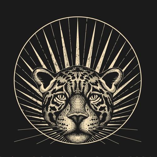 Logo design for Jaguar Dawn - dark glam accessories company.