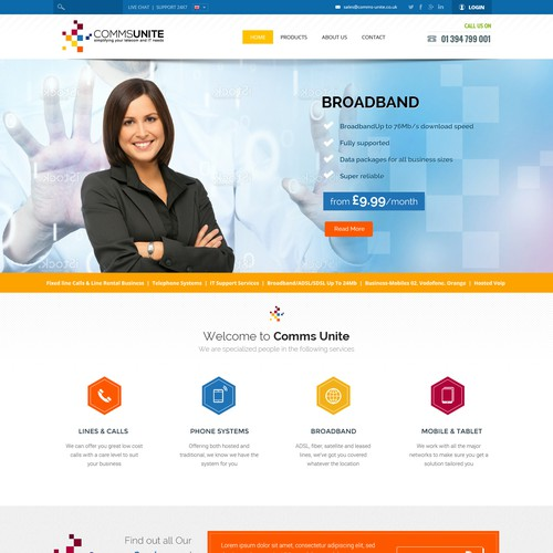 Exciting Fresh Tech Company Web Design