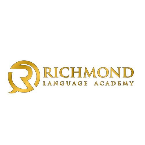 Create a eye-catching English school logo for Richmond Language Academy