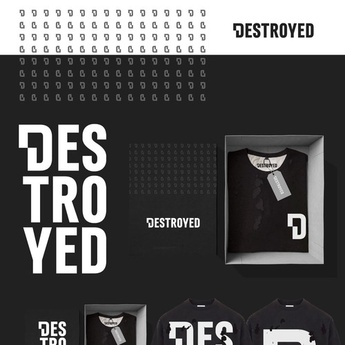 Destroyed logo design