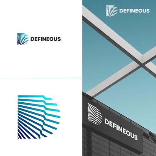 D letter design for Definous company contest