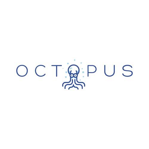 Minimal Octopus Logo