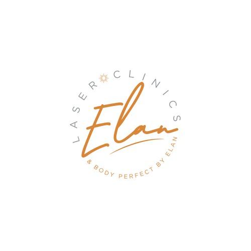 Elan laser clinics logo design