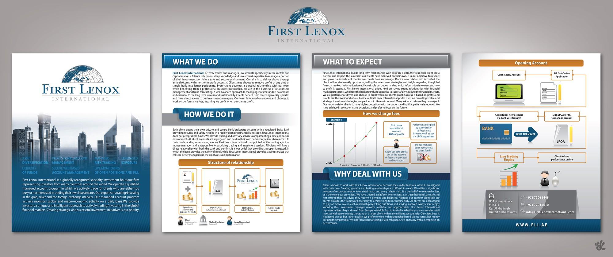 FLI needs creativity and professional designer. Simple and fun brochure.
