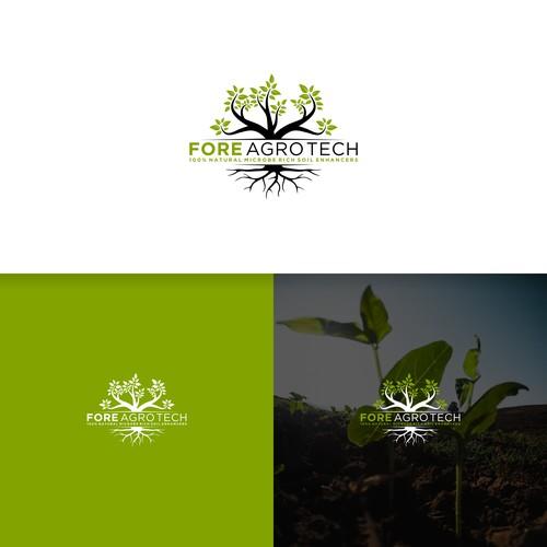 fore agro tech logo designs