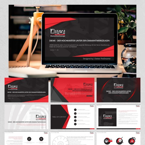 "PowerPoint Design for the ""DIEWE"" Project."