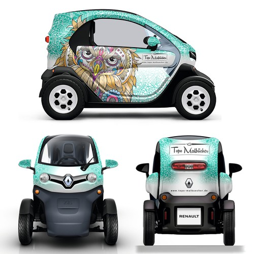 Creative Car wrapping design for  Renault Twizy