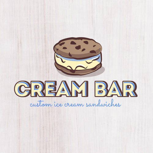 Playful design for Ice Cream Sandwich shop