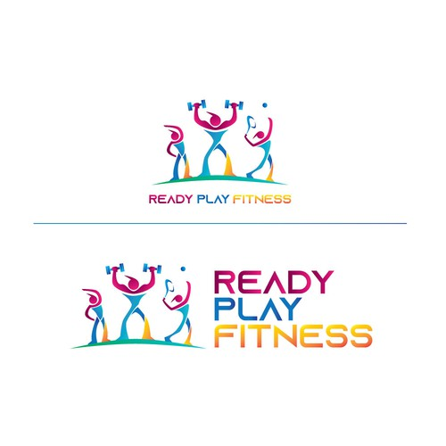 logo for ready play fitness