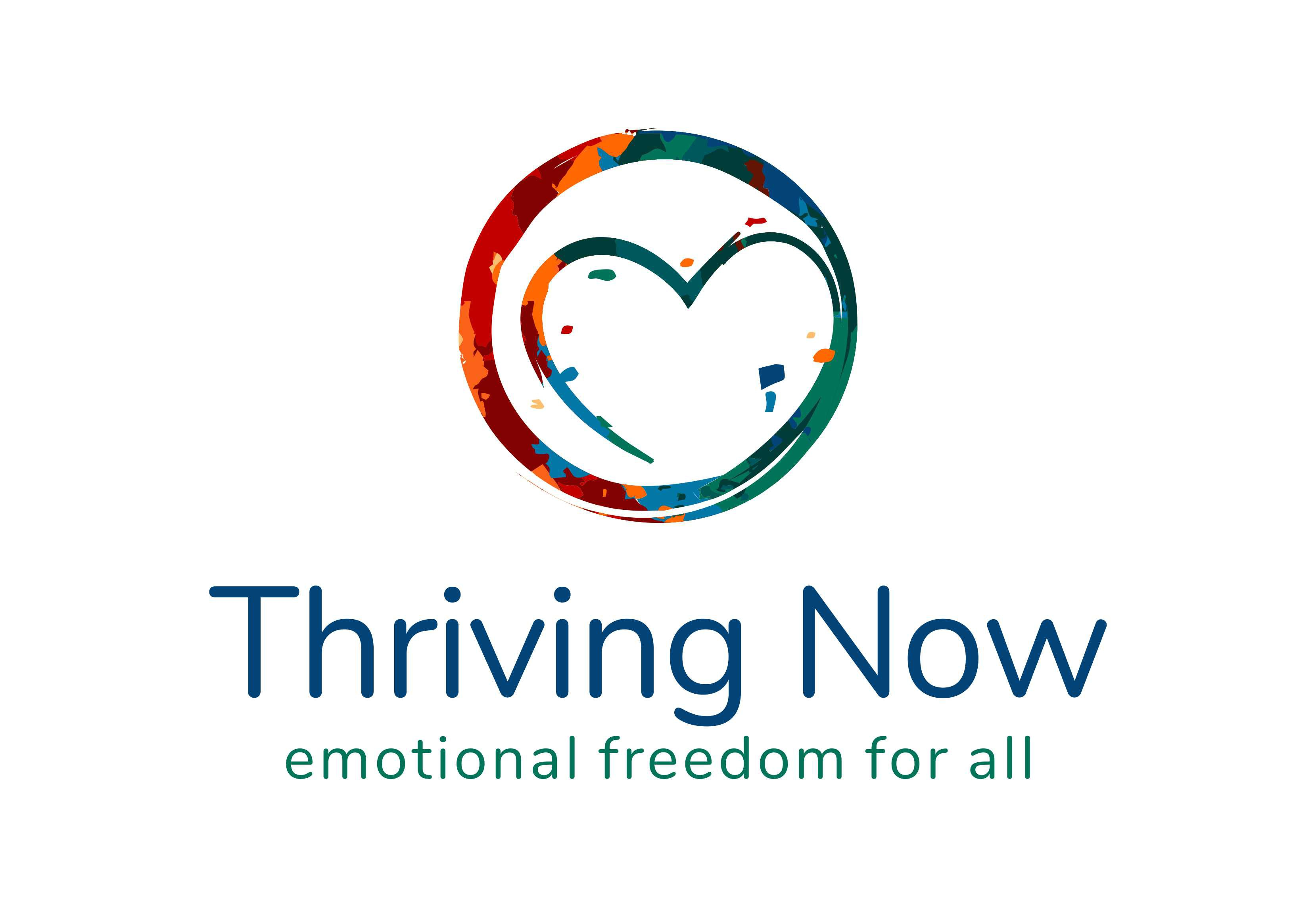 Create rich, vibrant logo for our Thriving Now Emotional Freedom Circle
