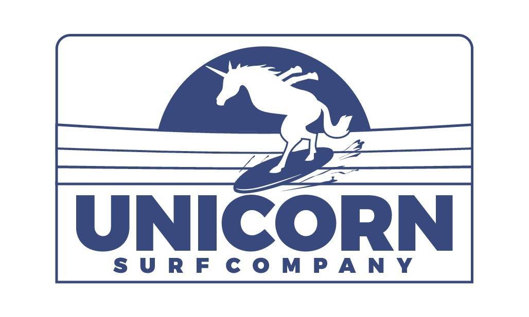 Surfing unicorn design