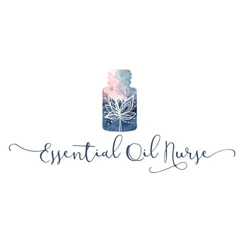 Logo in watercolor for essential oil
