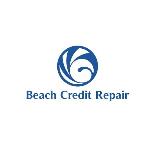 Beach Creadit Repair Logo Concept