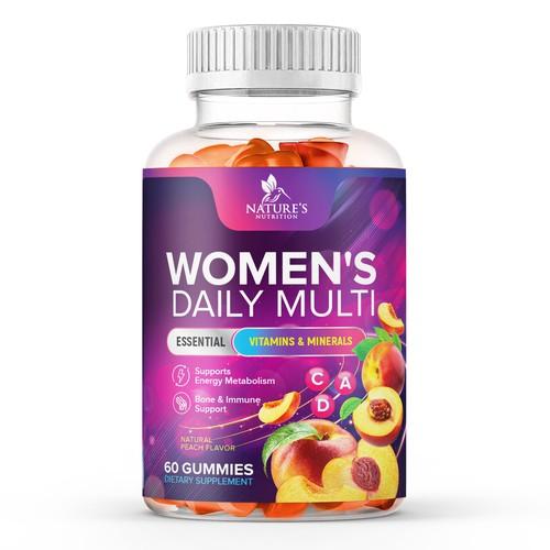 Tasty Women's Multivitamin Gummies Design needed for Nature's Nutrition