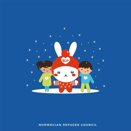 beautiful logo and mascot for the NORWEGIAN REFUGEE COUNCIL