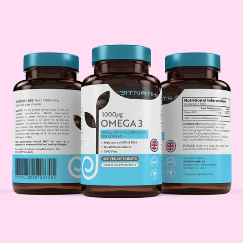 Omega 3 Label Design