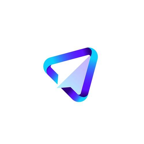 Plane/rocket logo for sale