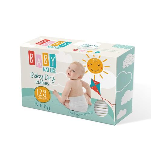 Baby Diapers Packaging Design
