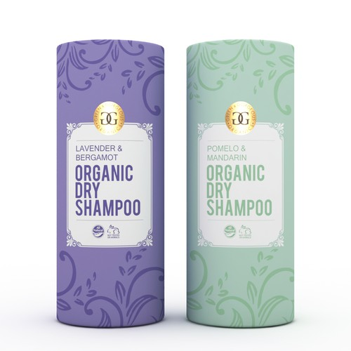 label for Organic Dry Shampoo product