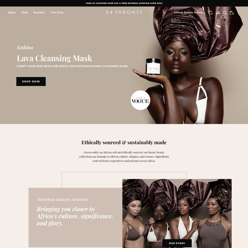 Luxury Skincare website