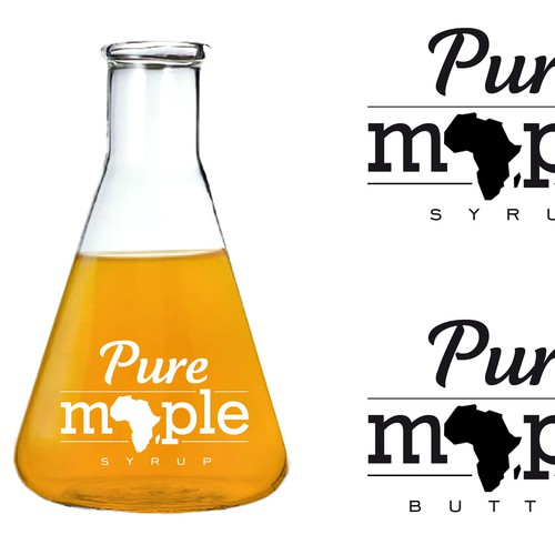 Create trendy maple syrup packaging label for distribution in South Africa