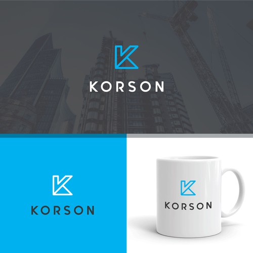 Modern logo for a construction company
