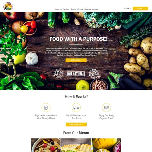 Organic Food Restaurant Website