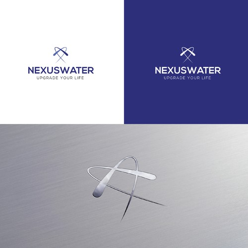 Minimal sleek logo for Nexus Water