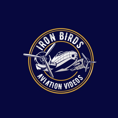 IRON BIRD Logo for Aviation Videos industries