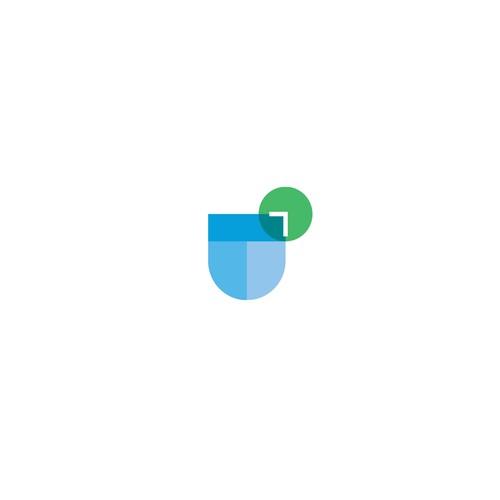 Modern app logo