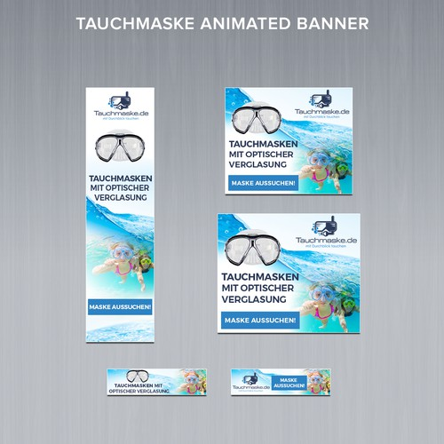 Animated Banner Ads for online shop for dive-snorkelmasks
