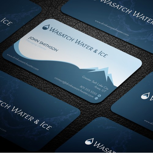 Water & Ice Business Card