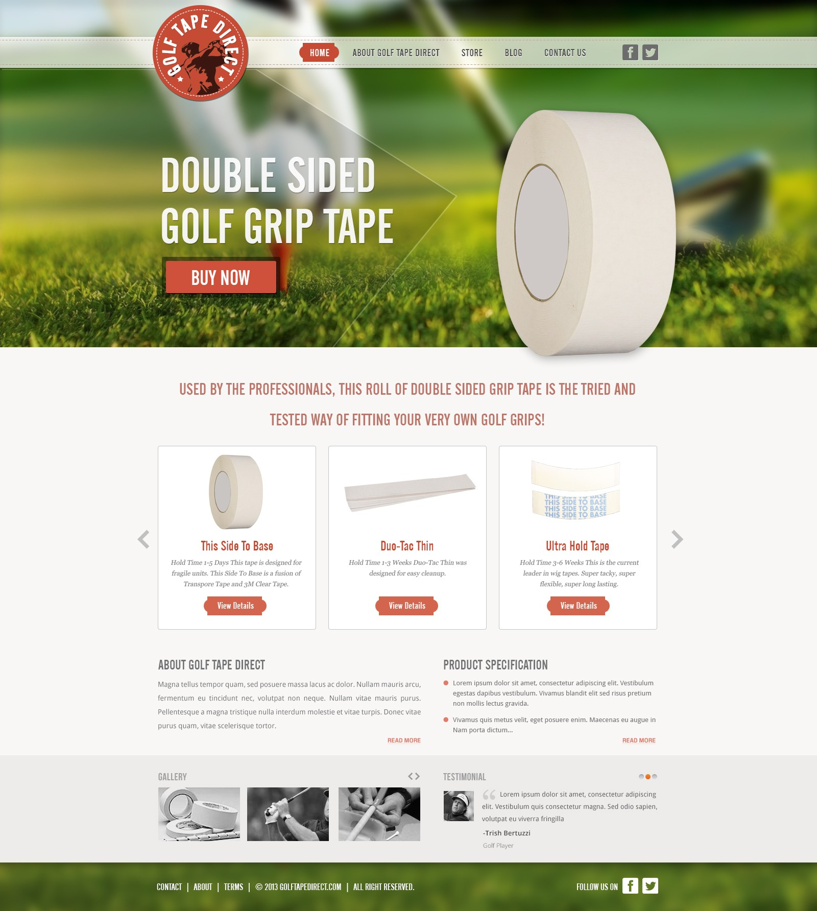 Create the next website design for GolfTapeDirect.com
