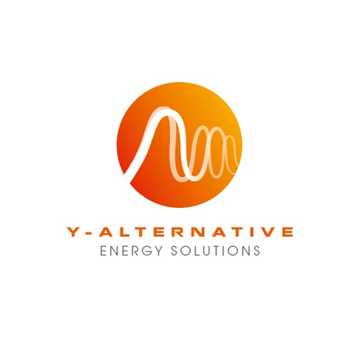 Renewable solar energy company logo