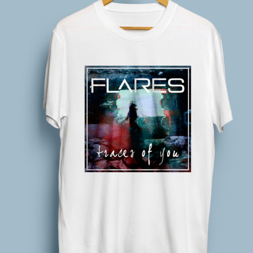 "Band T -Shirt for artist FLARES - Album ""Traces of You"""