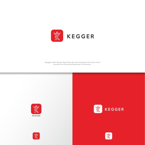 logo concept for kegger