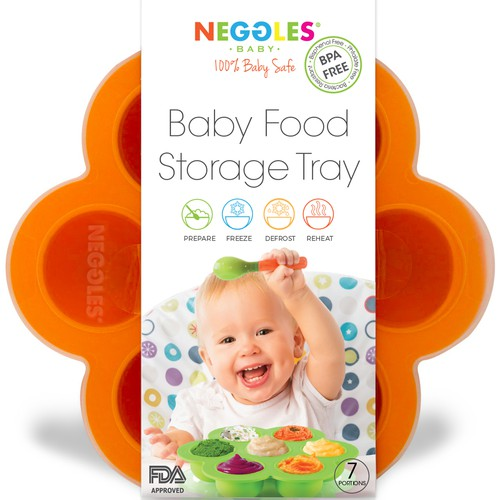 Packaging design and logo re-design for baby food tray